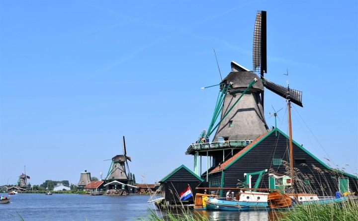 Zaanse Schans: a aldeia dos moinhos de ventoHolandeses