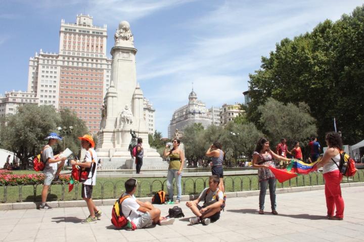Praça de Espanha, Madrid, Agosto 2011