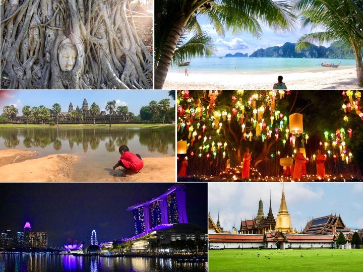 Sudoeste asiático: roteiro por Singapura, Camboja eTailândia